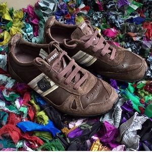 Diesel Lace Up Leather Sneakers